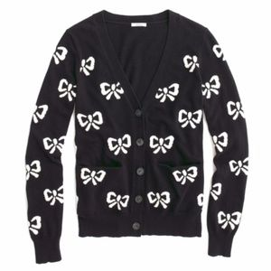 Wallace MADEWELL bow print Cardigan sweater xs